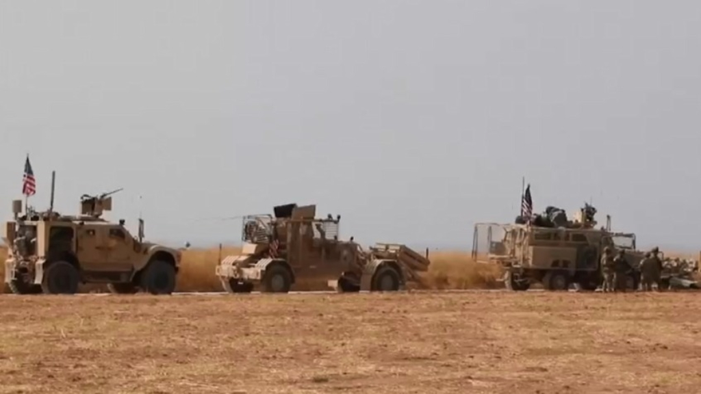 American troops withdraw through Syria
