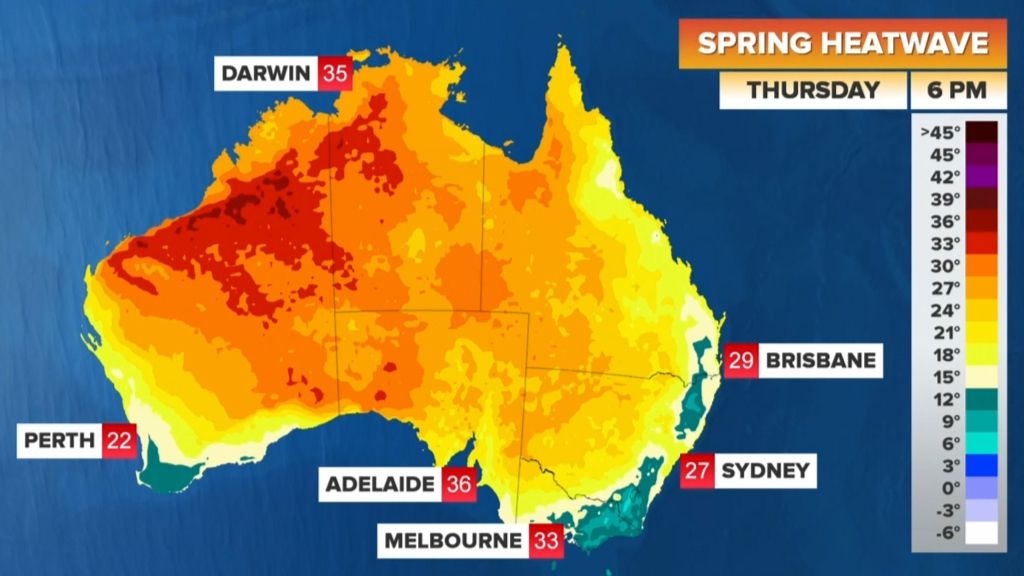 Heatwave sweeps Australia