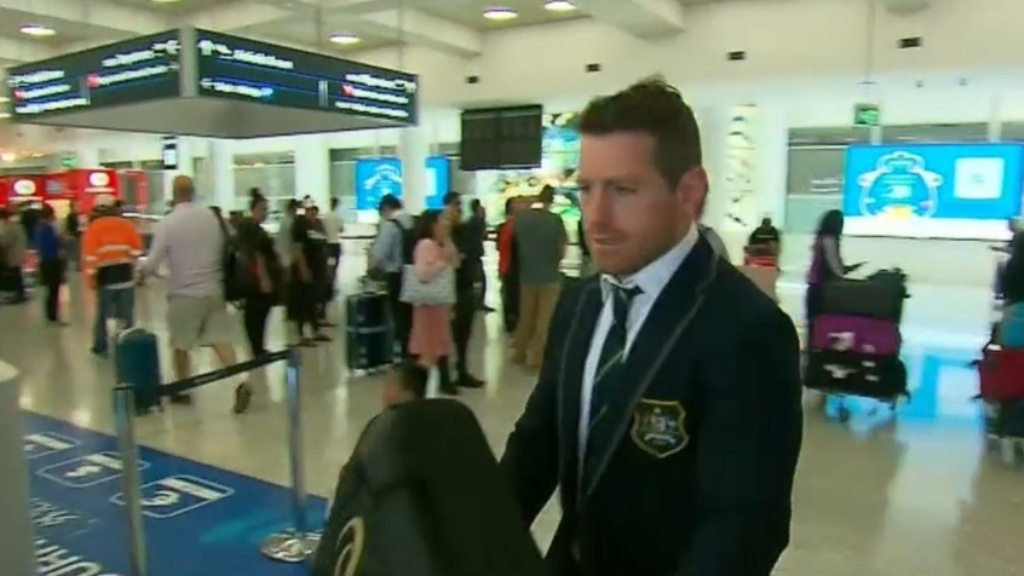 Wallabies arrive home