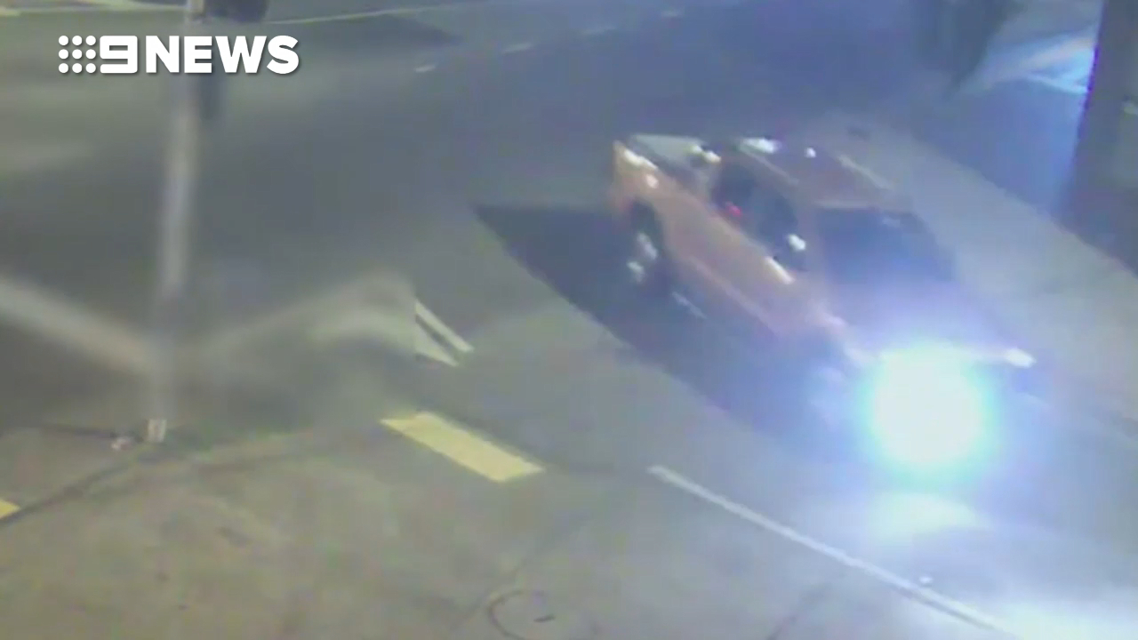 Homicide Squad detectives released CCTV of the orange ute