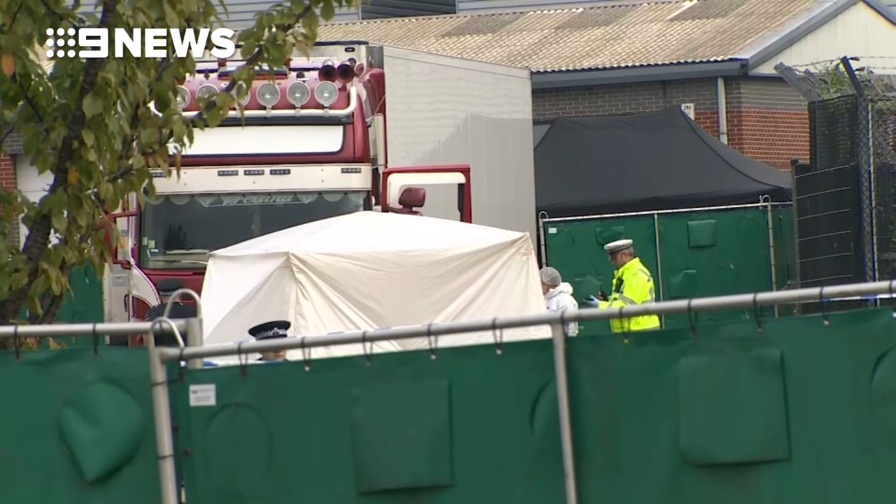 39 bodies have been found in the back of a truck