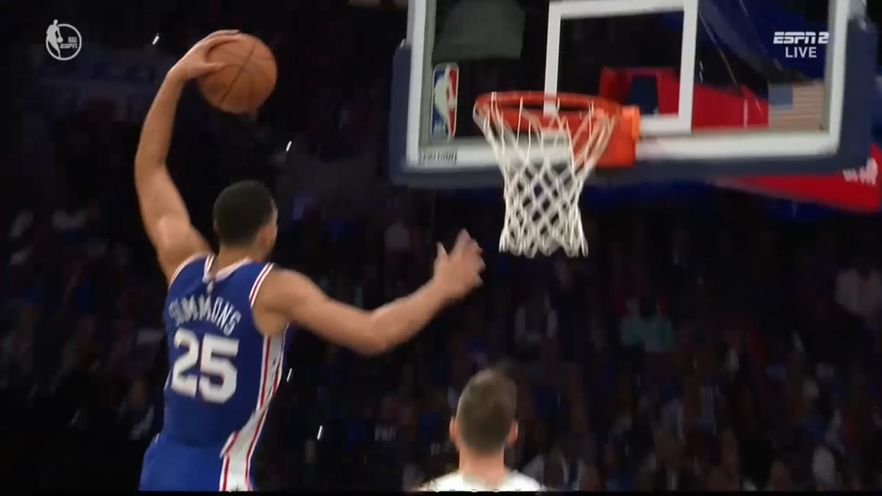 Ben Simmons drops the hammer
