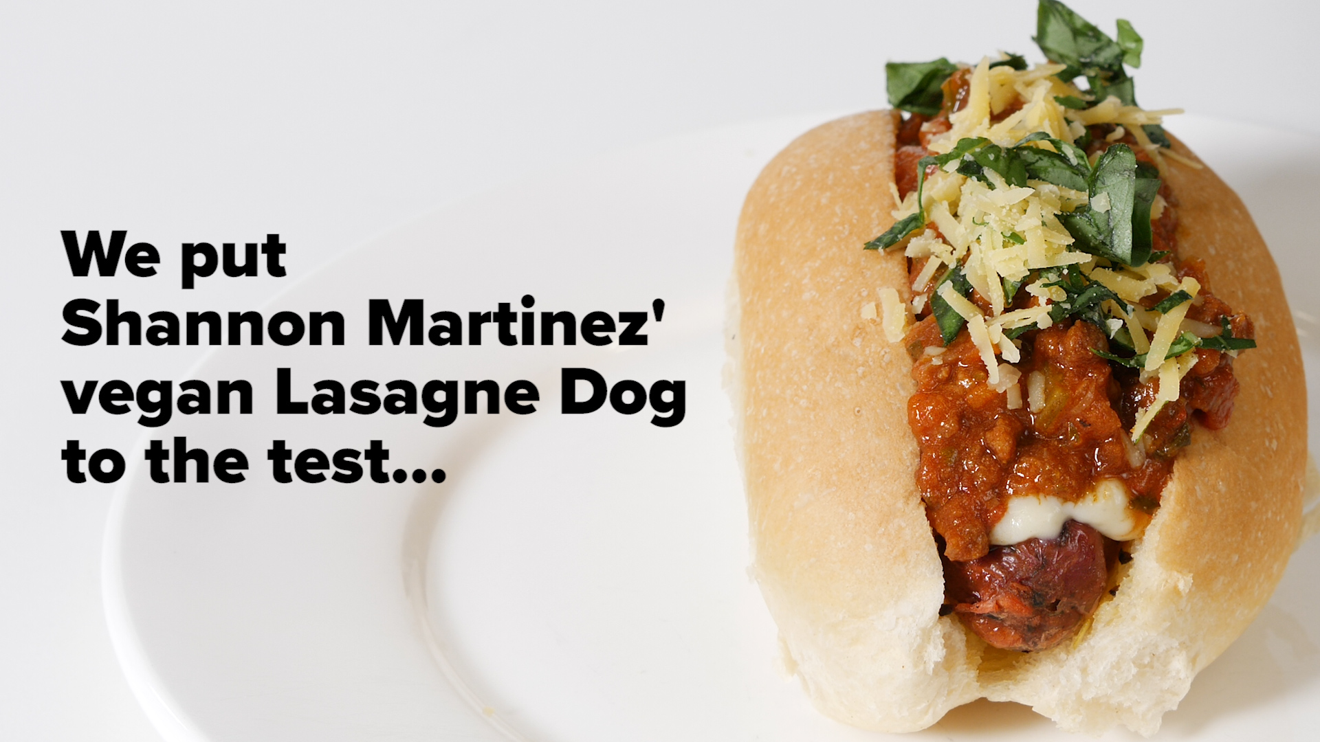 9Honey taste test Deliveroo's vegan Lasagne Dog