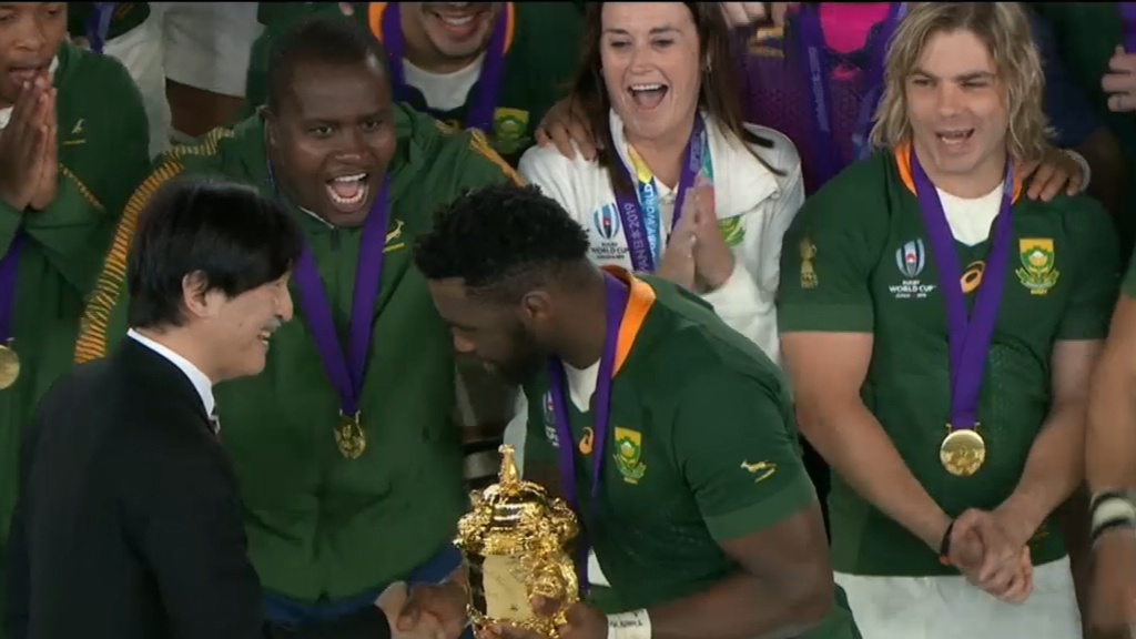South Africa win Rugby World Cup final