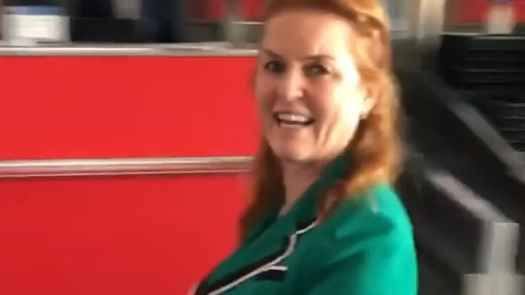 Sarah Ferguson shares airport antics on Instagram