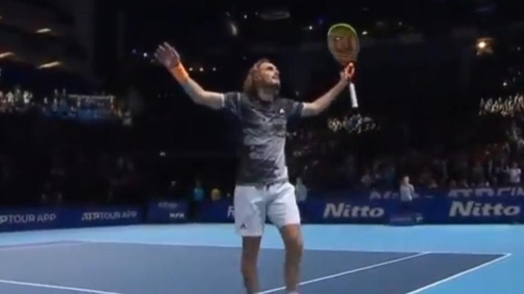 Tsitsipas upsets Medvedev in ATP Finals