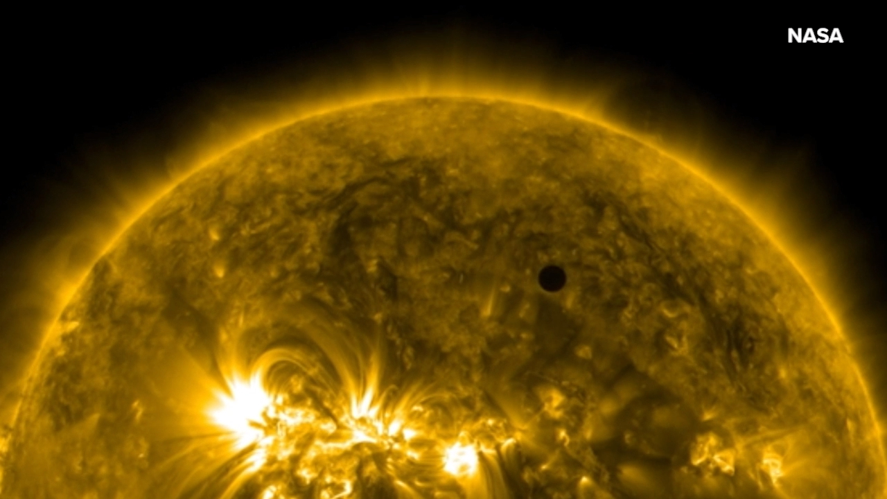 NASA animation shows Mercury's rare transit