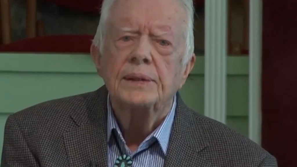 Former US President Jimmy Carter teaches Sunday School