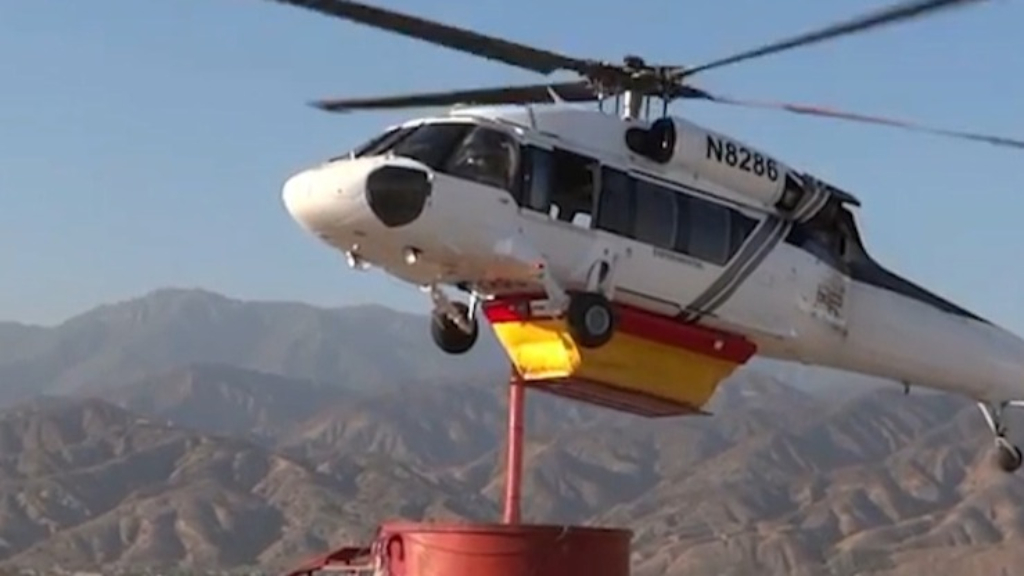 Australian company develops new firefighting water tank for helicopters