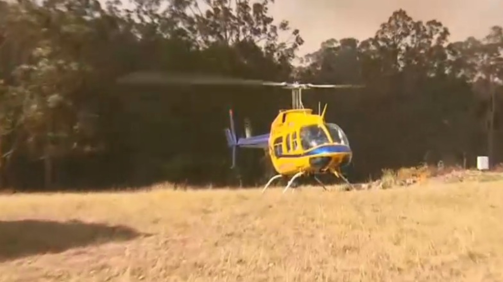 Water-bombing chopper crashes at Pechey