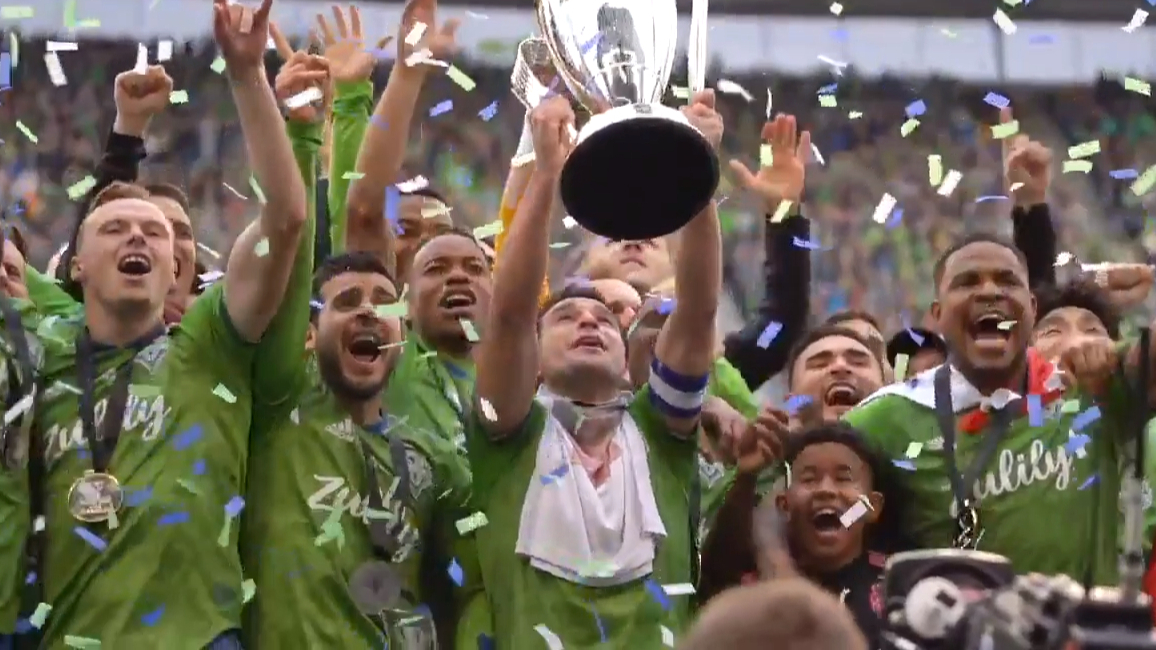 Sounders celebrate MLS Cup win