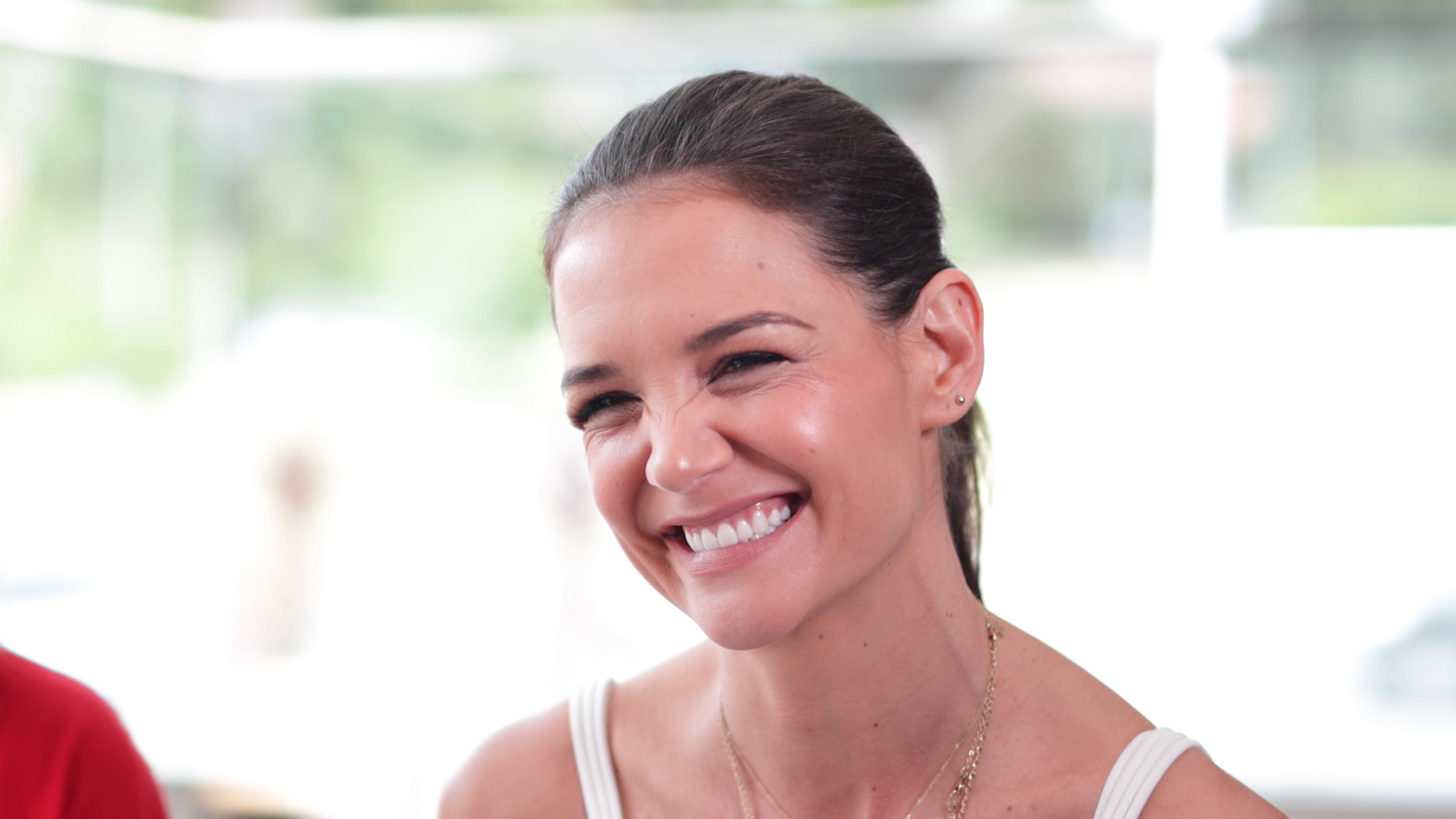 Katie Holmes chats to 9Honey Celebrity about McHappy Day
