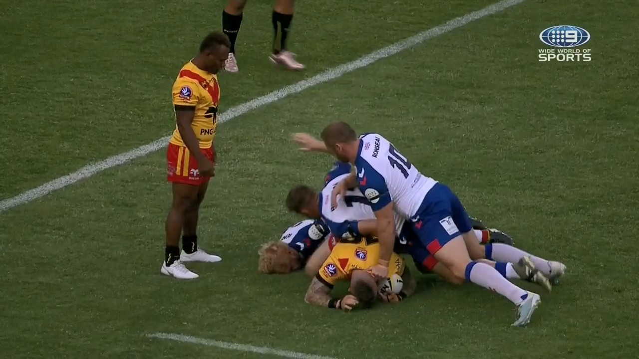 James Graham goes down in first tackle