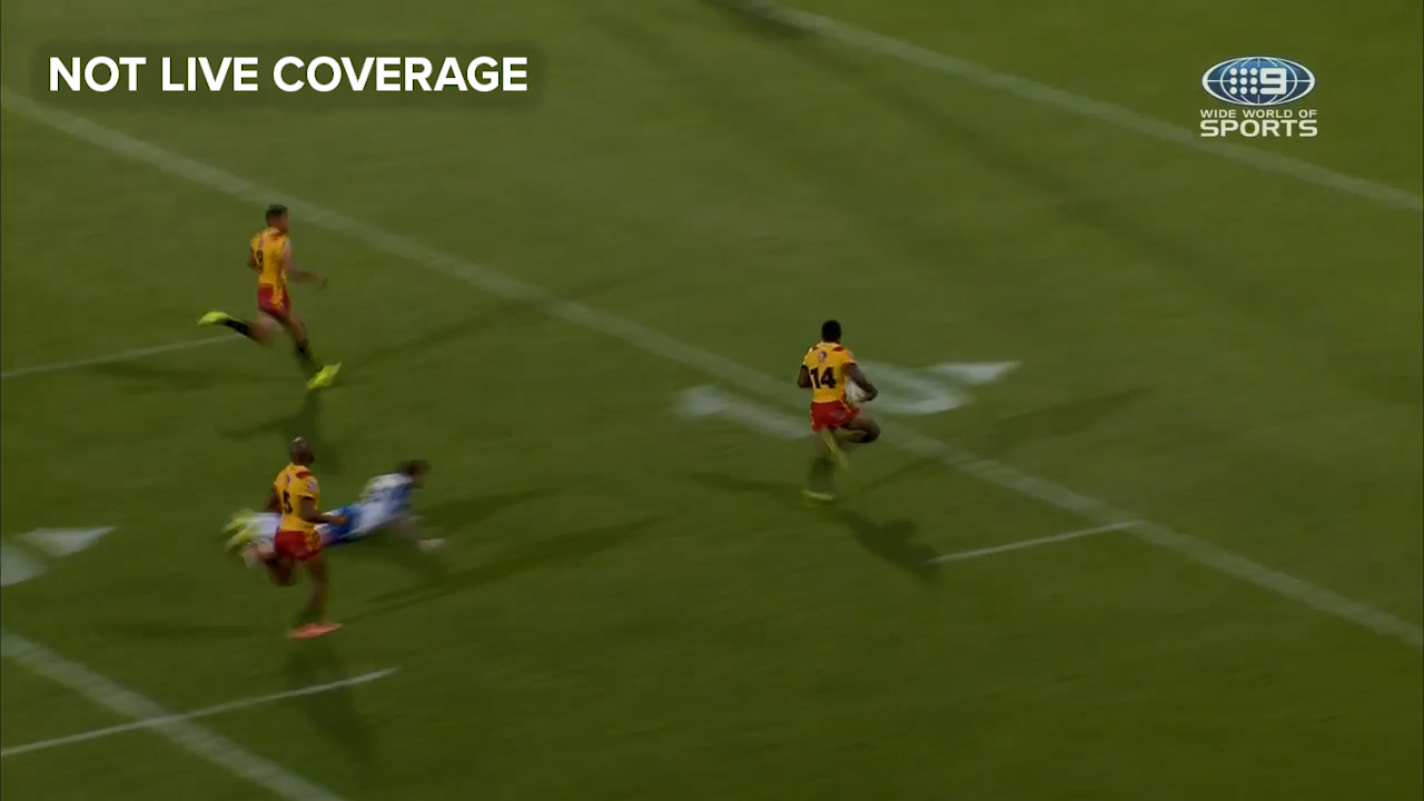 Edwin Ipape incredible try