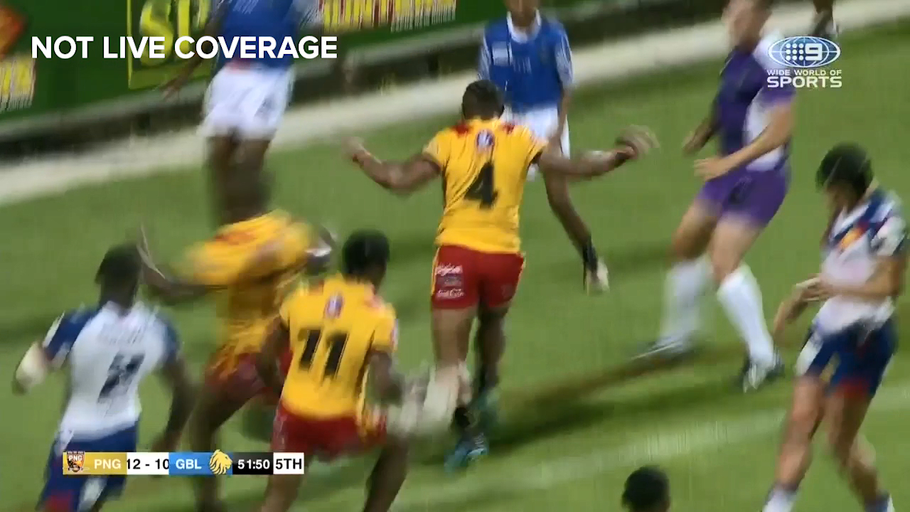 Justin Olam scores incredible try