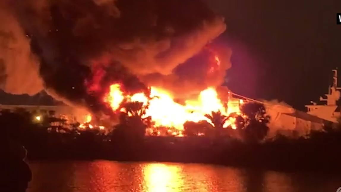 Two multi-million dollar yachts destroyed in fire