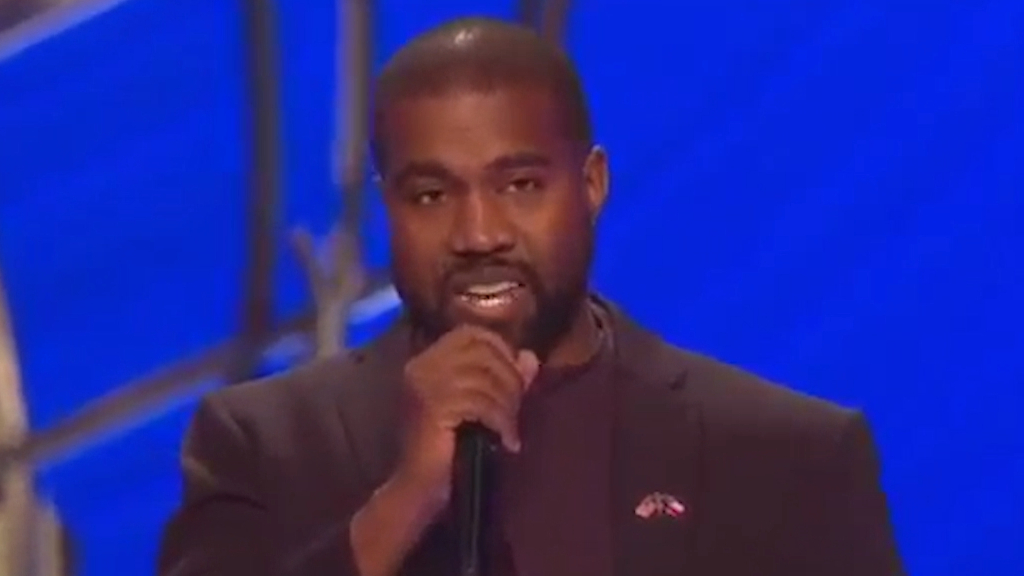 Kanye West discusses his faith in church appearance