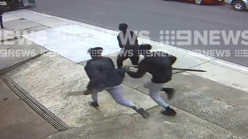 CCTV of young men trashing Airbnb house at Box Hill