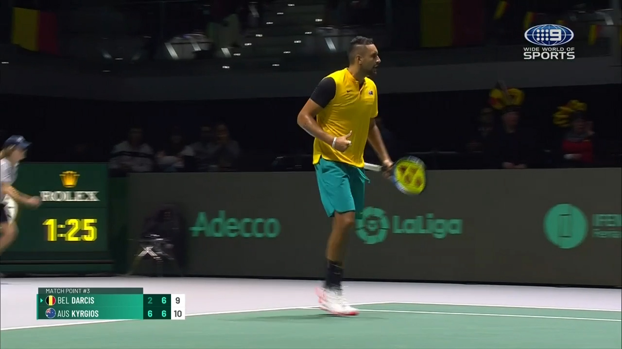 Kyrgios helps Aussies win Belgium opener