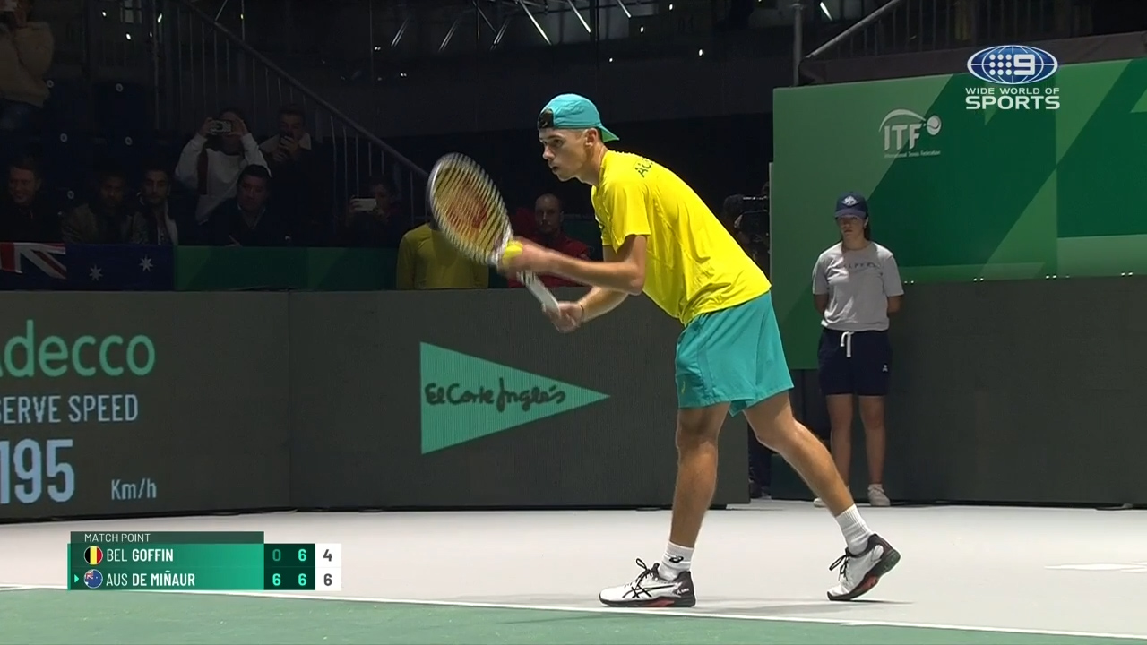 De Minaur gives Australia 2-0 lead