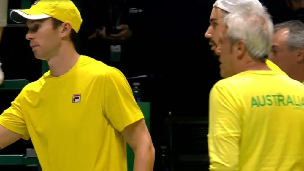 Aussies forfeit doubles match to Belgium