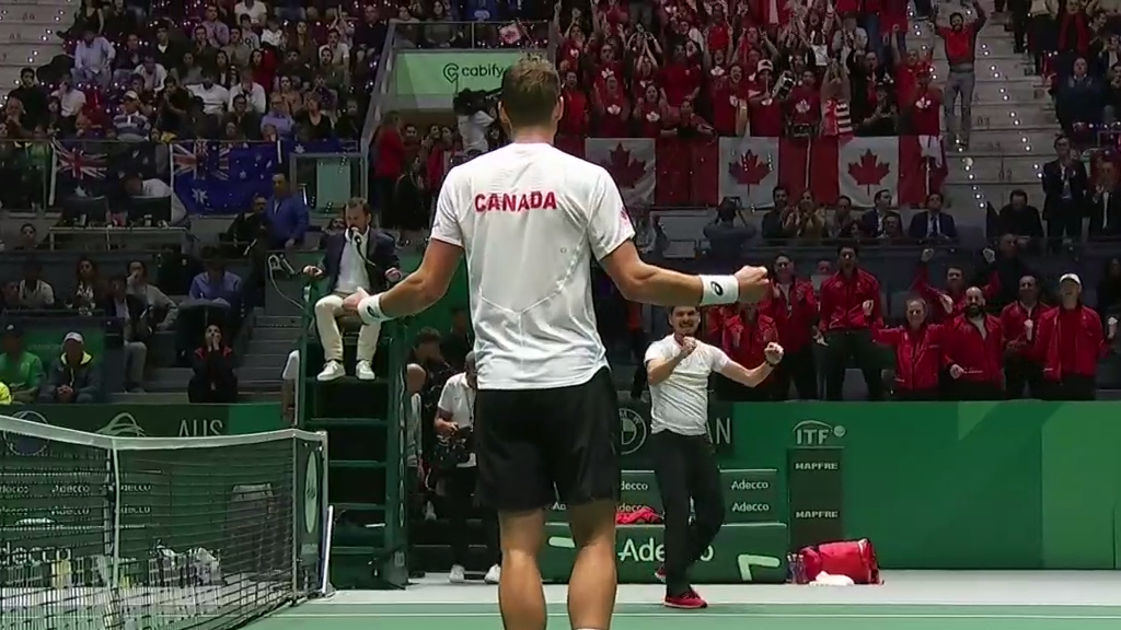 Canada on top in Davis Cup