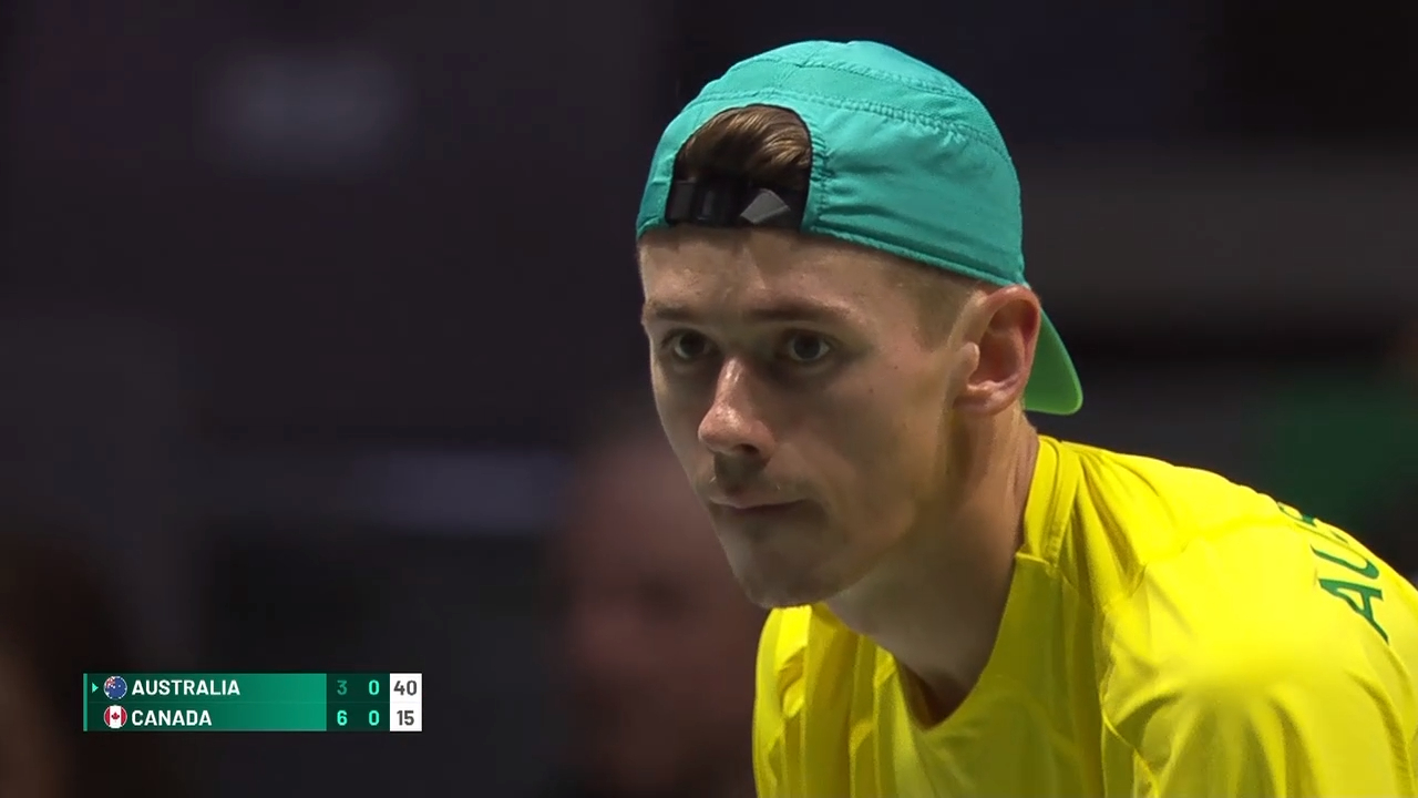 Davis Cup Highlights: De Minaur V Shapovalov - Quarter Finals