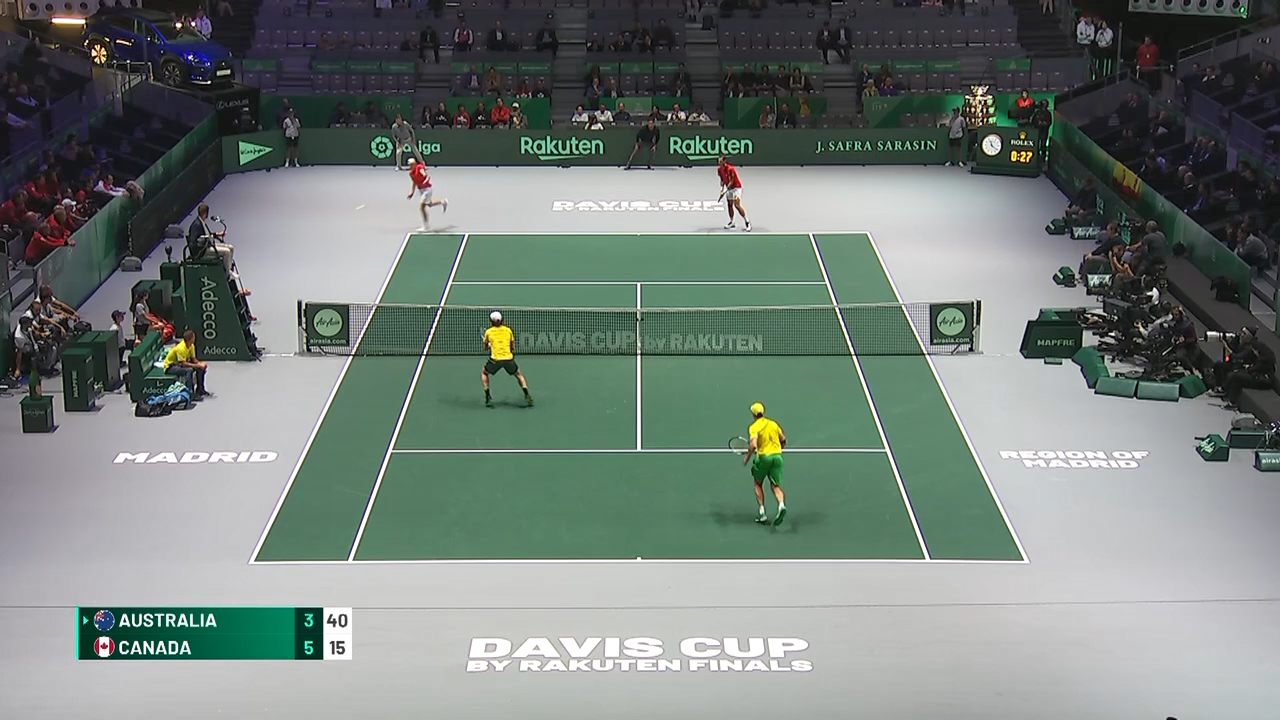 Davis Cup Highlights: Australia v Canada Doubles - Quarter Finals