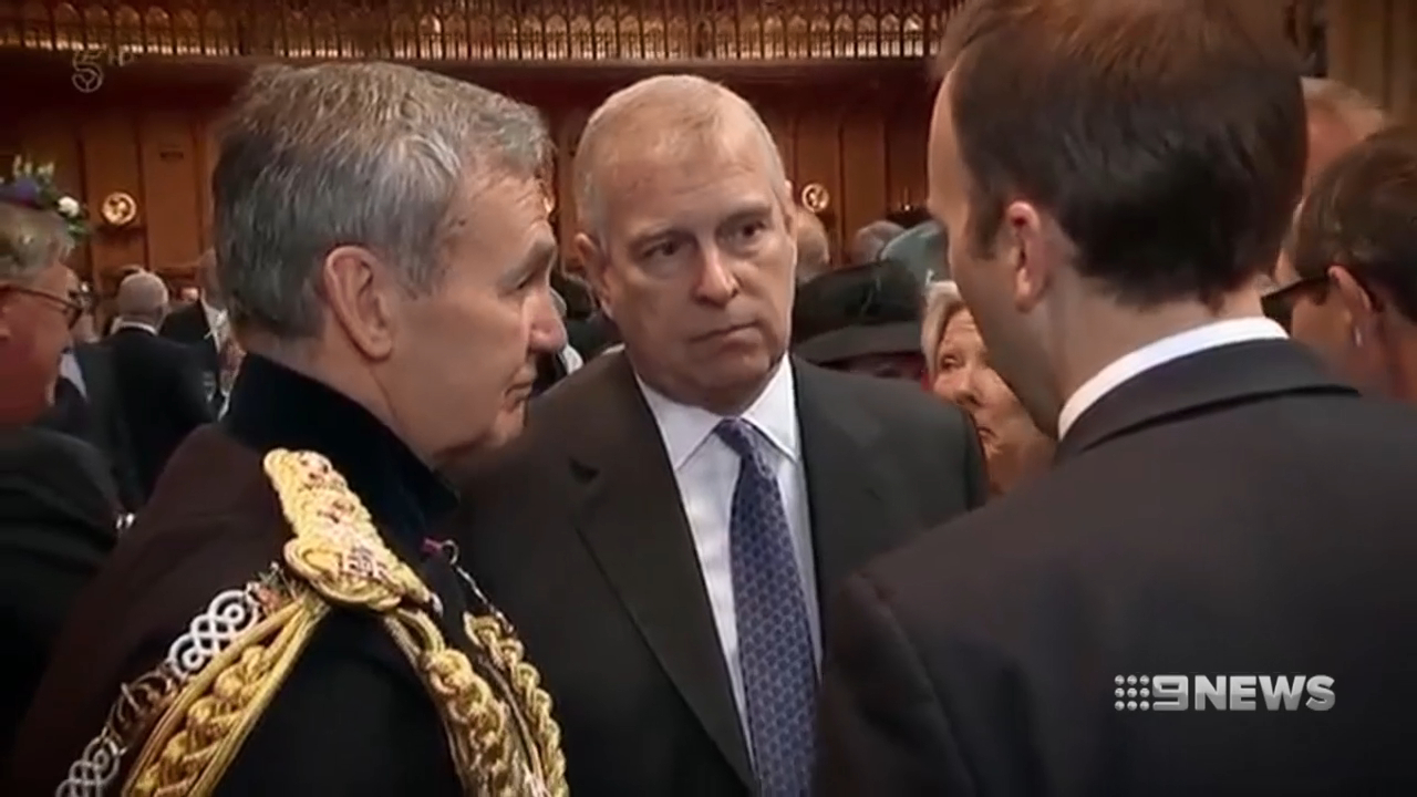 Prince Andrew seen for first time in public