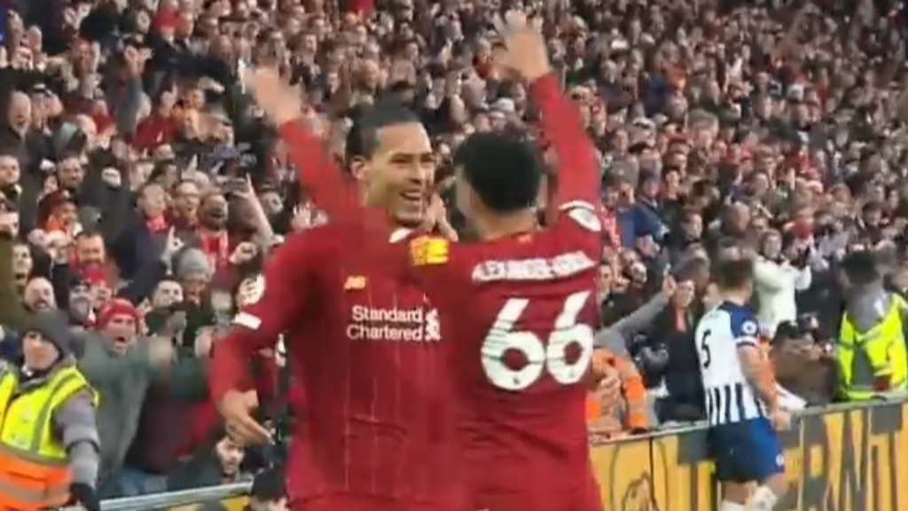 Liverpool defeat Brighton