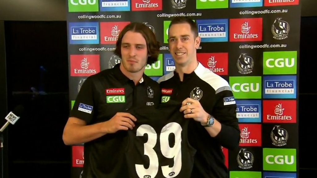 Collingwood draftees presented guernseys