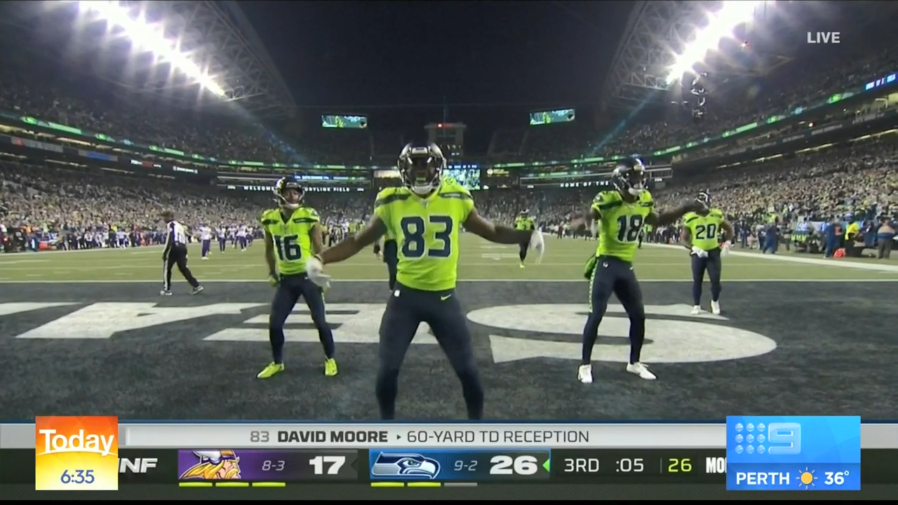 Seahawks' impressive touchdown dance