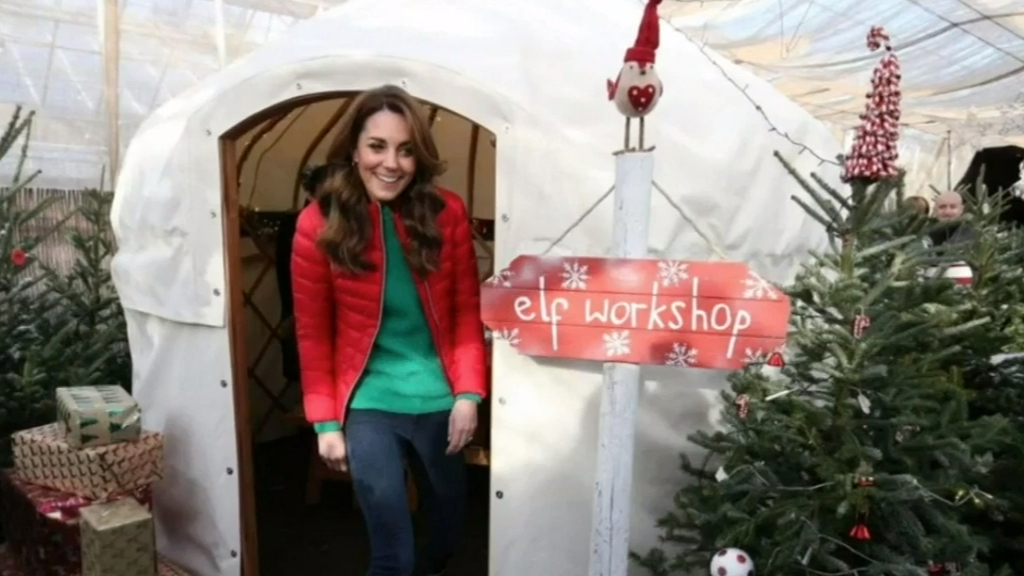 Kate Middleton visits Christmas tree farm