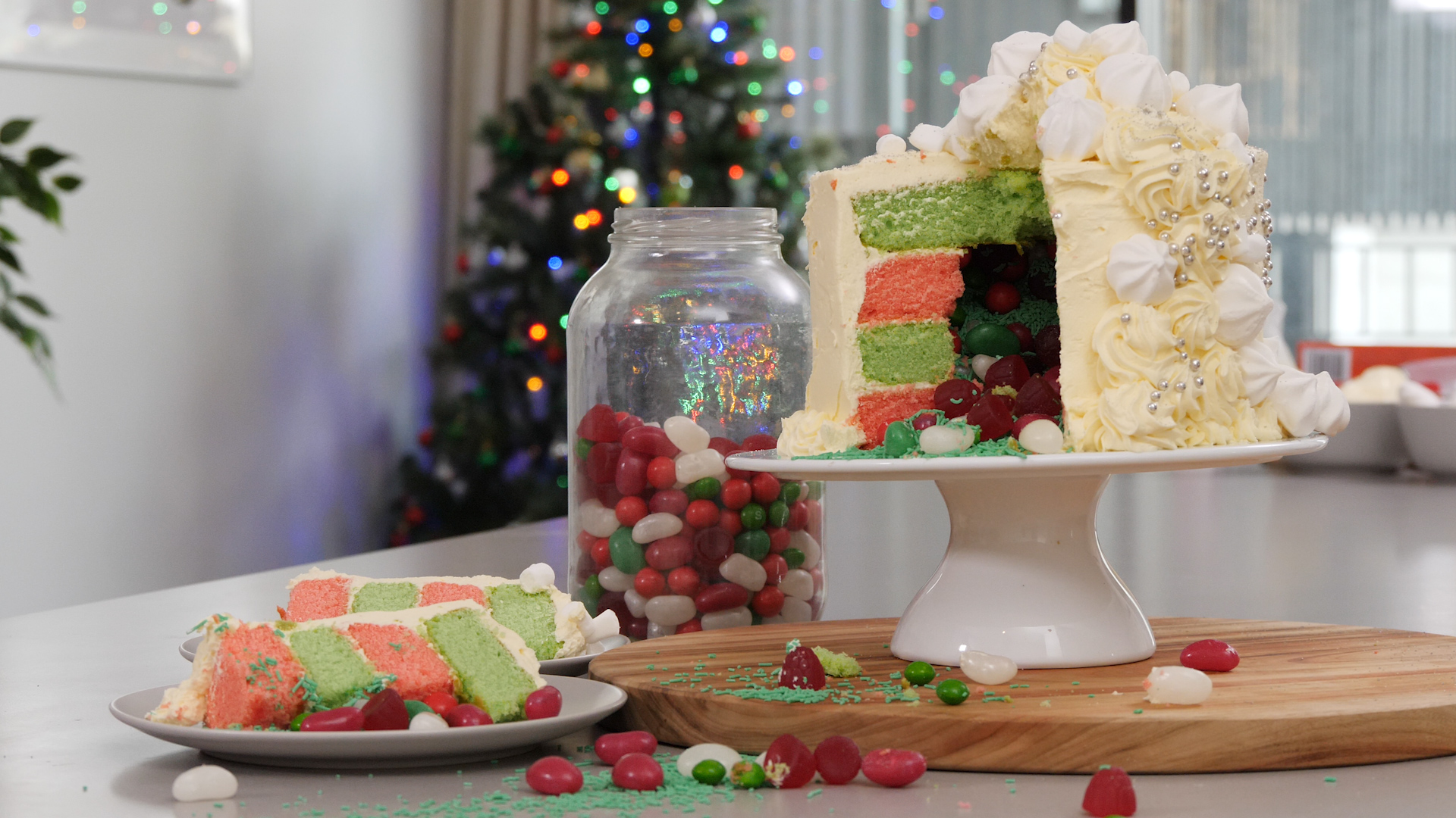 Lolly Filled Layer Cake