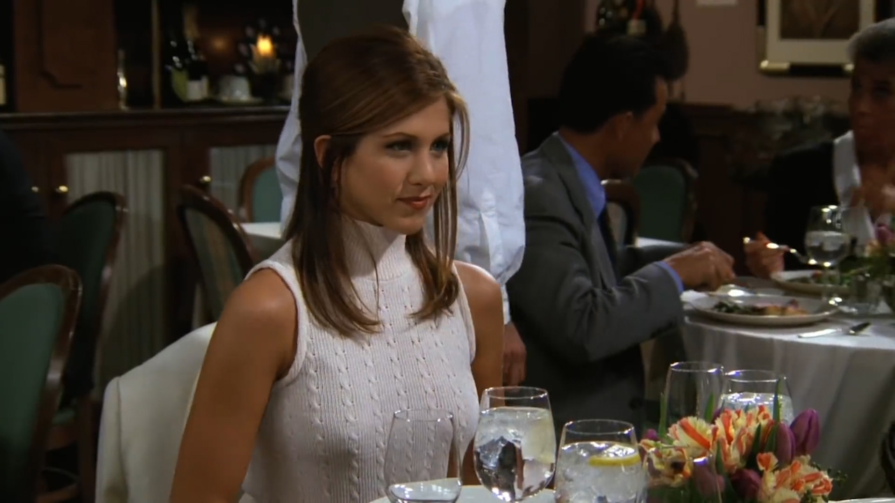 Friends — Ross and Rachel have dinner with Rachel's dad