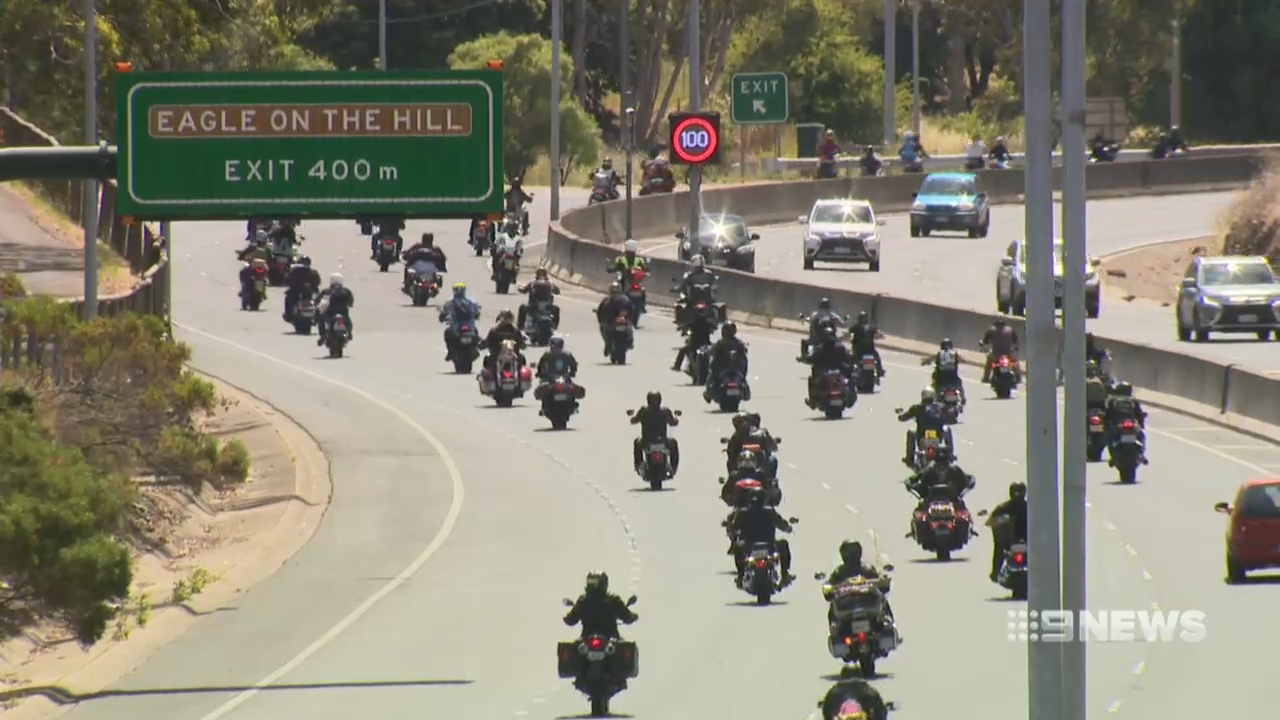 Adelaide motorcyclists embark on annual toy run