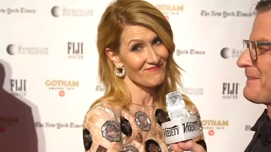 Laura Dern says she saw Baby Yoda at a basketball game