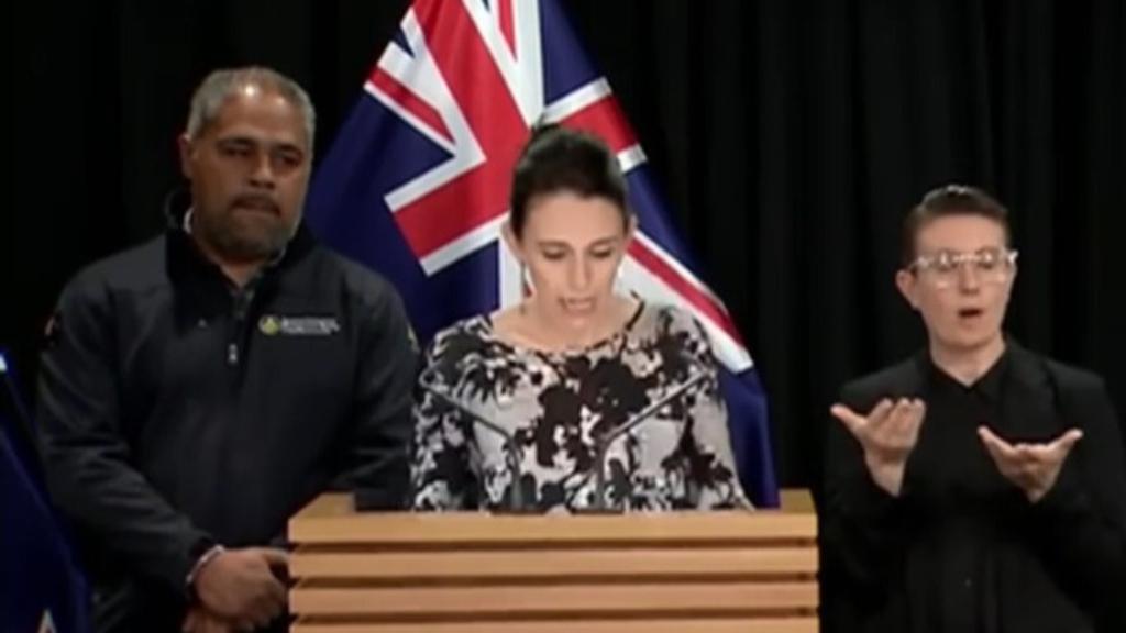 Jacinda Ardern speaks after New Zealand volcanic eruption