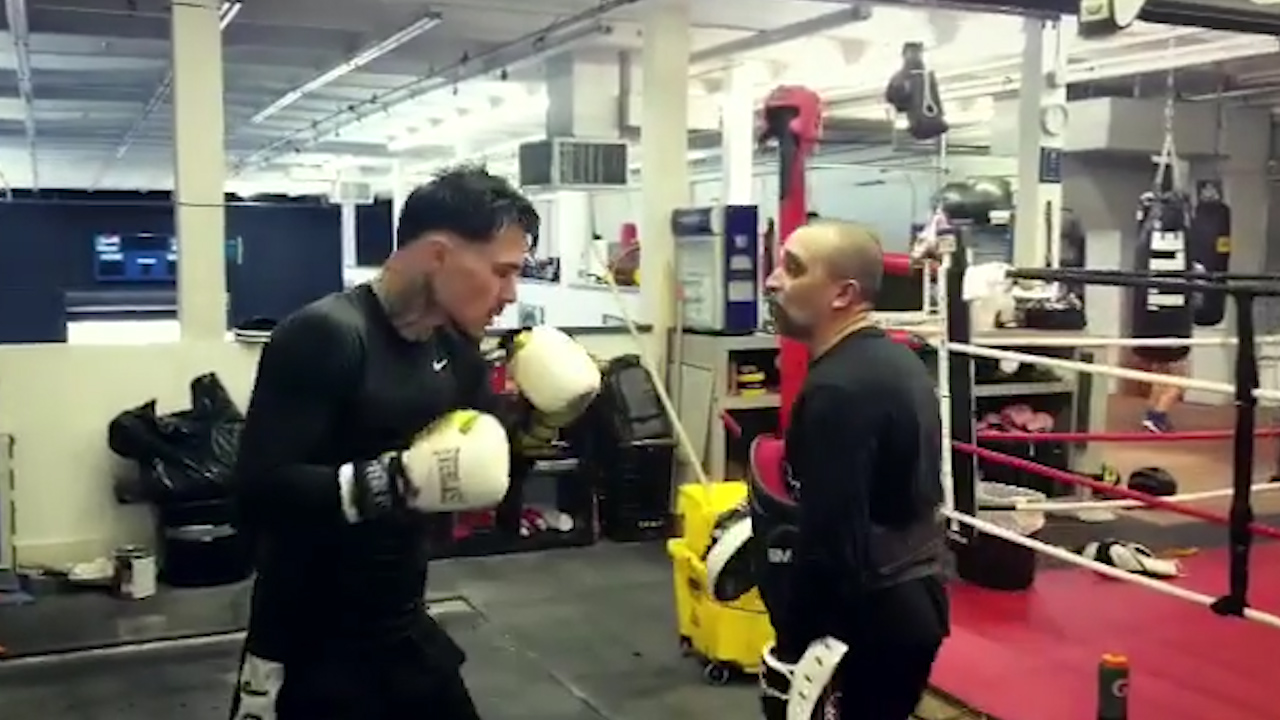 Kambosos Jr works out for Bey fight