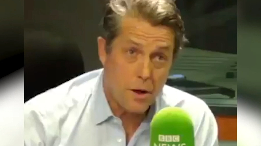Hugh Grant reacts to Boris Johnson's Love Actually spoof
