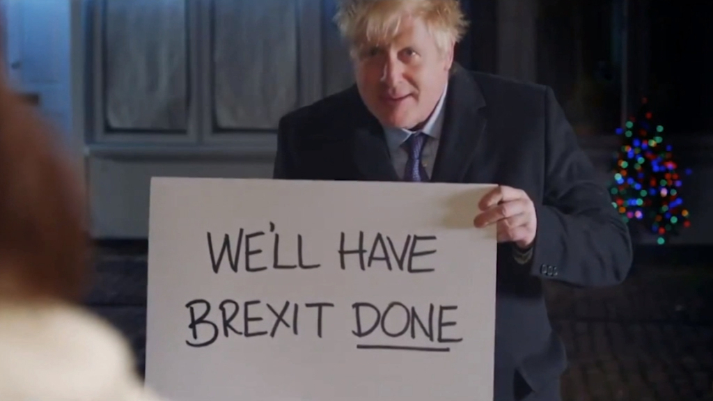 Boris Johnson parodies 'Love Actually' scene in election ad