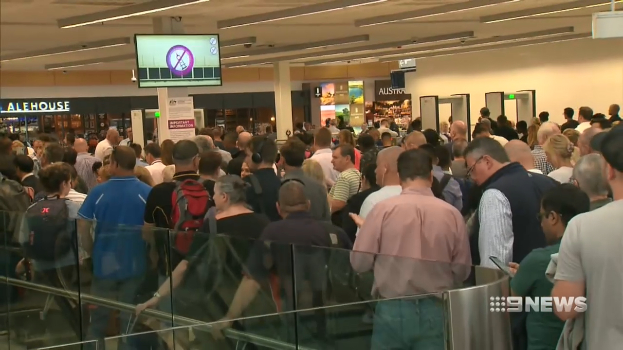 Mass evacuation at Adelaide airport