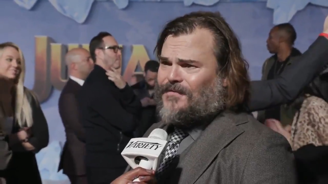 Whoops! Jack Black forgot he was in The Holiday