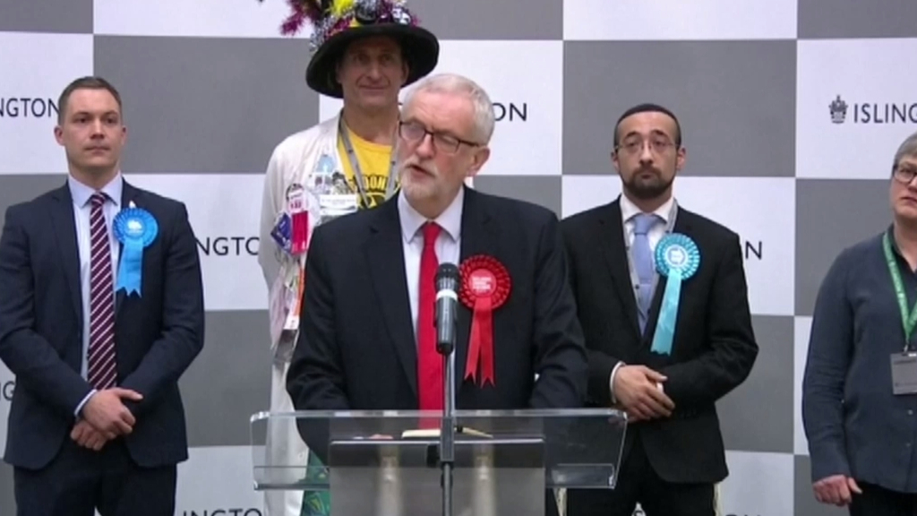 Jeremy Corbyn expresses disappointment at election result