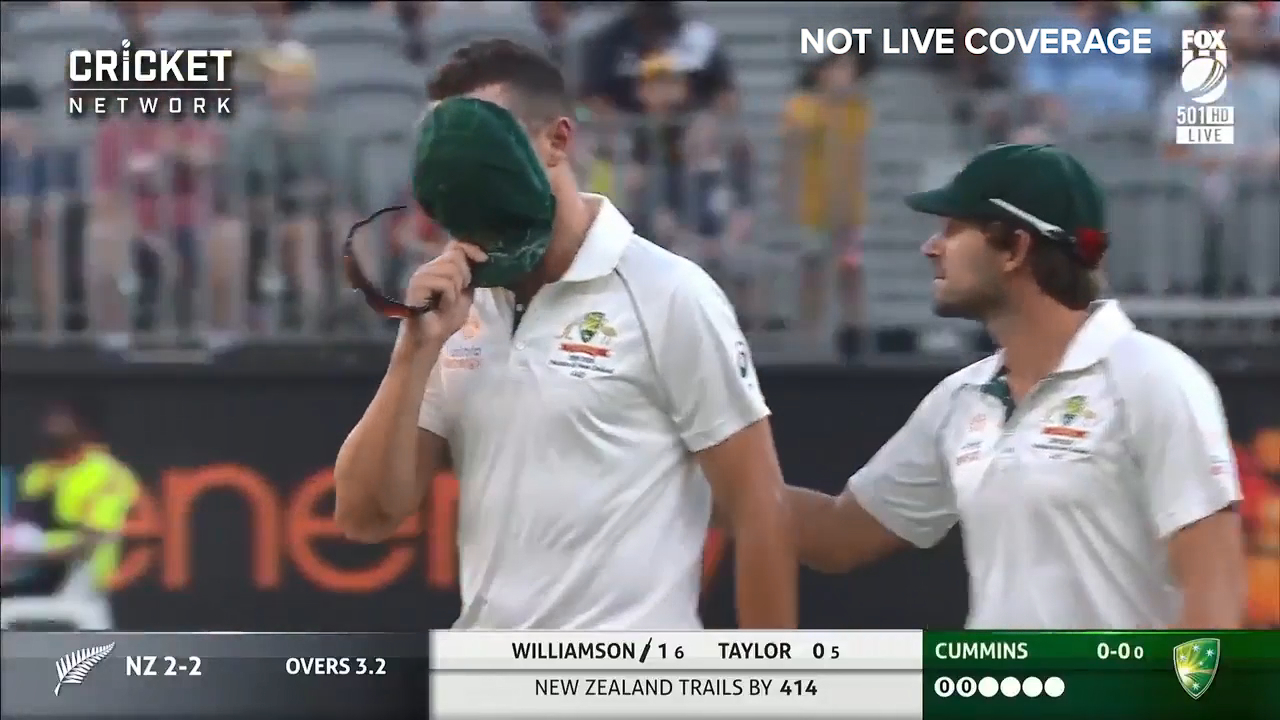 Hazlewood pulls up sore
