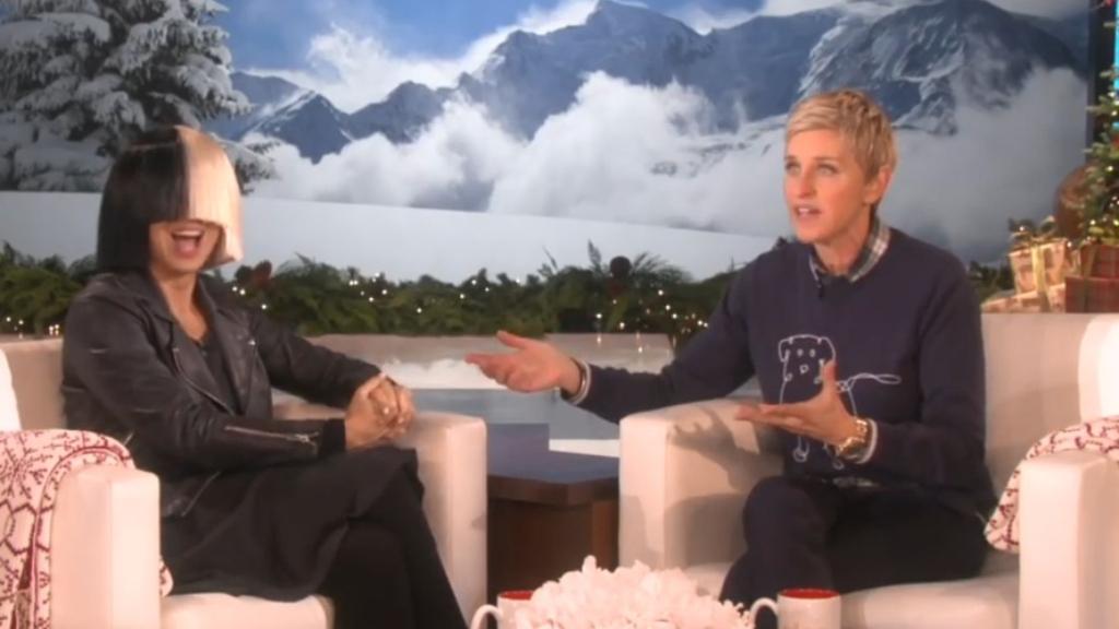 Sia tells Ellen DeGeneres why she hides her face