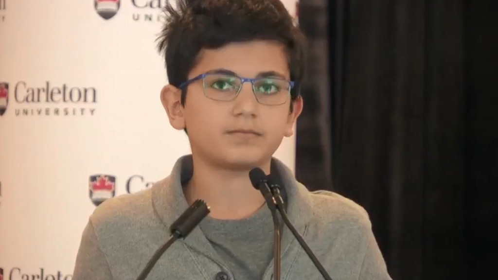 A 13-Year-Old Gave An Emotional Speech About His Dad Who Died In The Iran Plane Crash