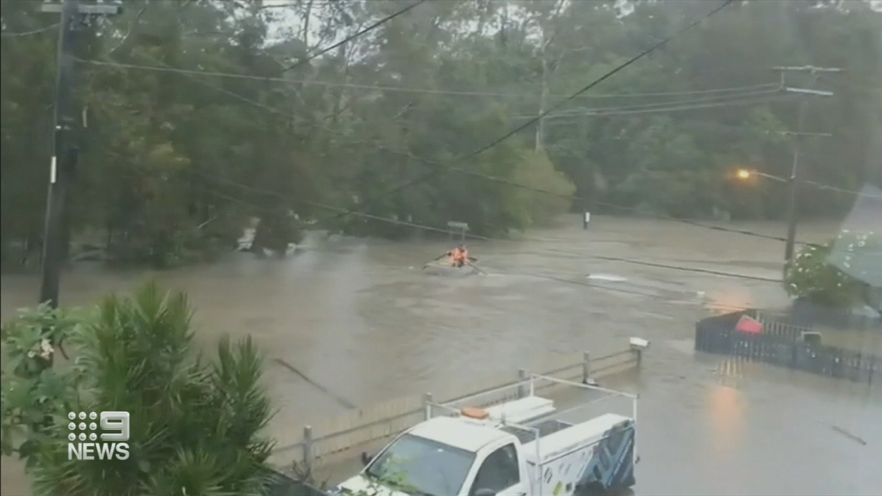 Dangerous flash flooding lashes Gold Coast