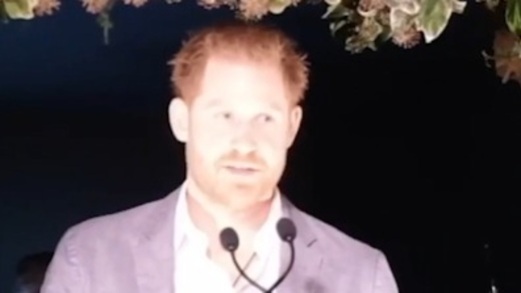 Prince Harry addresses royal exit in speech