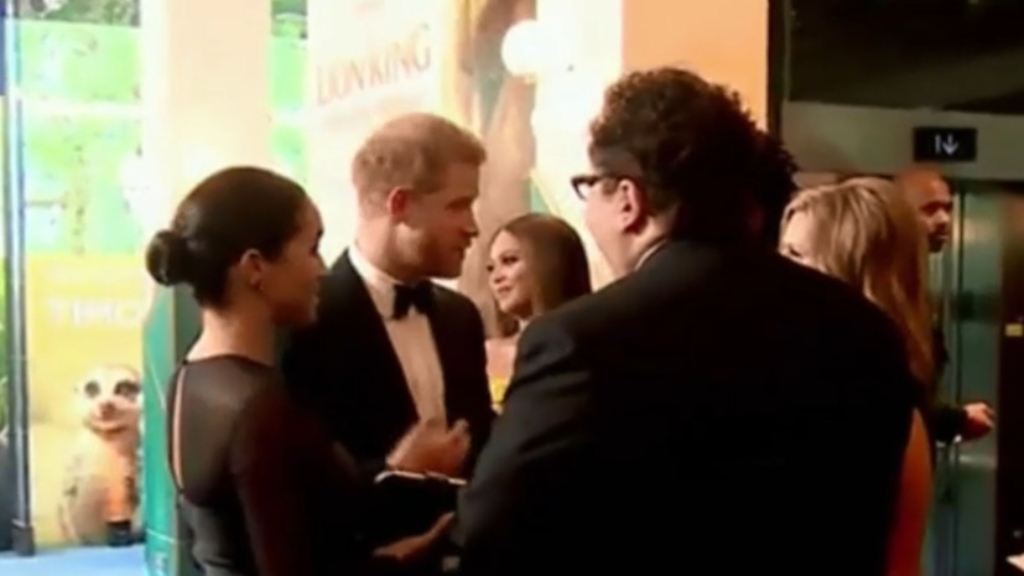 New footage of Prince Harry emerges networking with Lion King director